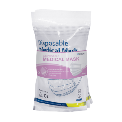 Picture of OBOR Disposable Medical Mask (3-Ply With Earloop)