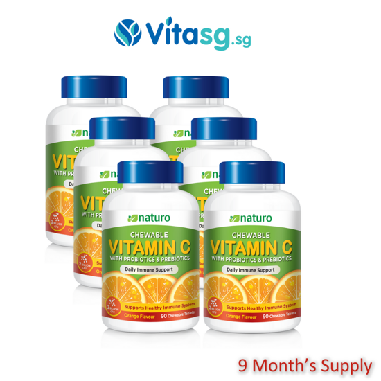 Picture of [Restock Improved Formula] Naturo Chewable Vitamin C 90Sx6 GroupBuy 9 Month Supply